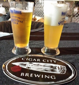 Cigar City Fight the Power Sour (L) and Berliner Weisse at New Times Beerfest